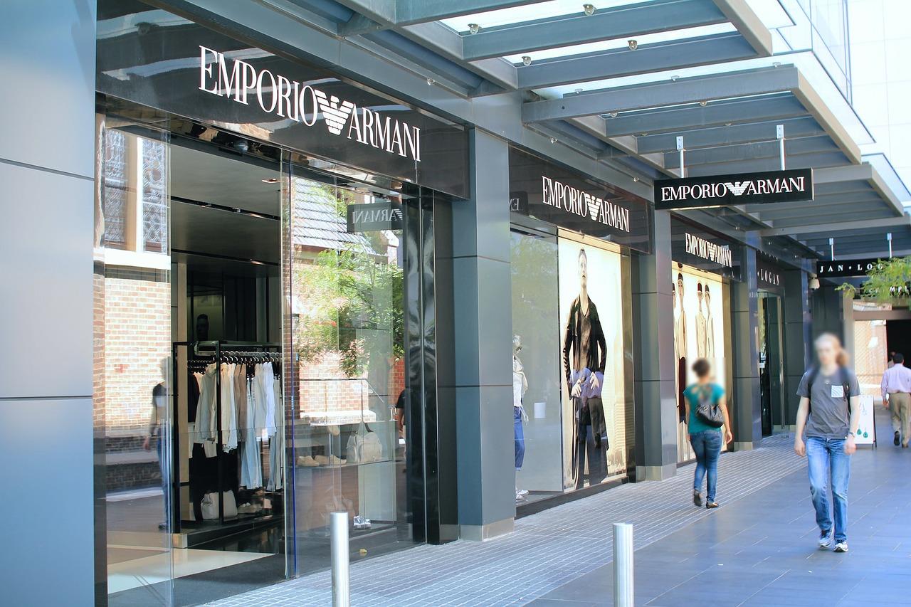 elegancia, divat, Armani üzlet
